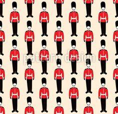 British Parade Seamless Vector Pattern by Leysan Shayakbirova at patterndesigns.com Vector Pattern, Pattern Design, Vector Free, British, Image, Culture, Digital, Adobe Illustrator, Wordpress