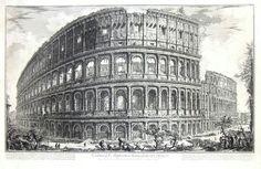 PIRANESI GIAMBATTISTA.  Veduta dell'Anfiteatro Flavio detto il Colosseo…  Roma,1756