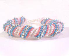 Cellini Spiral Bracelet: Bead woven , via Etsy.