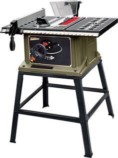 Rockwell Shop Series 13 Amp Table Saw with Stand - Product Features Lightweight and easy to transport Large safety on/off switch for enhanced control and operator safety Reinforced cast aluminum table top for greater stability and Circular Saw Reviews, Best Circular Saw, Best Table Saw, Table Saw Stand, Benchtop Table Saw, 10 Inch Table Saw, Table Saw Reviews, Portable Table Saw, Architecture
