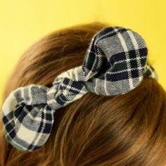 Pretty Bow in Black and White Headband #Colorize #ColorizeFashion