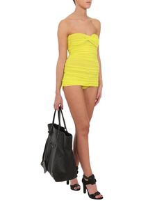 'Walter Mio' ruched bandeau swimsuit