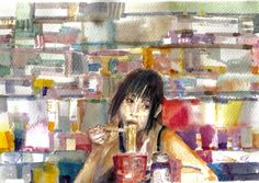 """Saatchi Online Artist: Michele Cannavale; Watercolor, 2012, Painting """"untitled"""""""
