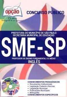 Saiba Mais -  Apostila SME SP Professor 2016 PDF e Impressa  #Aprovado Saiba como adquirir a sua http://apostilasdacris.com.br/apostila-sme-sp-professor-2016-pdf-e-impressa/