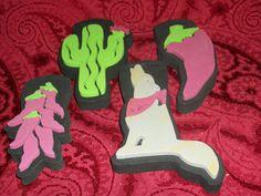 Set of Four NEW Southwest Desert Theme Foam by TKSPRINGTHINGS, $2.95