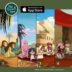 there another great app:  The Sira Story of Prophet Muhammad السيرة النبوية Teach your kid the story of Islam in an interactive and engaging way. Learn positive values like trustworthiness, honesty and many others from the Seerah of Prophet Muhammad (pbuh) and his Companions.... https://sira.co