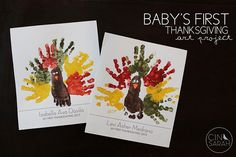Cinsarah: Baby's First Thanksgiving Art + Free Printable
