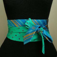 Tie Crafts, Sewing Crafts, Cinto Obi, Old Ties, Diy Belts, Diy Vetement, Obi Belt, Tie Styles, Scarf Jewelry