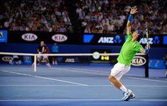 2012 Australian Open – Men's Singles final. Djokovic defeated Nadal 5–7, 6–4, 6–2, 6–7(5–7), 7–5 to win the match.