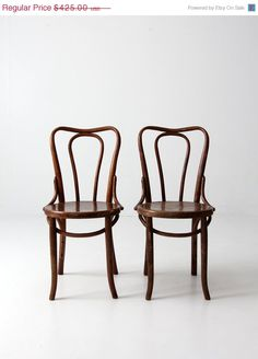 SALE FREE SHIP antique bentwood chairs / thonet style by 86home, $382.50
