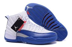"a698d7360 2016 Air Jordans 12 Retro ""French Blue"" White French Blue-Metallic Silver-Varsity  Red"