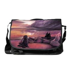 Messenger Bag - Mermaid Rendezvous by Michaeline McDonald
