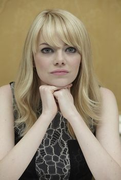 Emma Stone The Croods press conference portraits