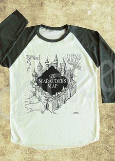 The Marauder's Map tshirt Harry Potter