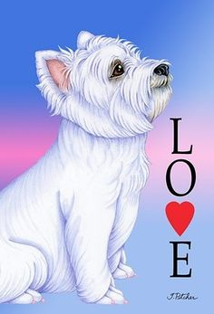 Westie - Best of Breed Love Design House Flag