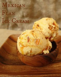 If you're a fan of flan, you're going to *love* it in ice cream form! Mexican Flan Ice Cream is rich and creamy and studded with shards of caramel that melt into gooey deliciousness as the ice cream sits in the freezer. Fantastic! | pastrychefonline.com