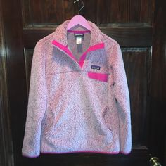 Women's Patagonia It was an exclusive pullover so it was only sold for a limited time. In great condition! Only worn about a dozen times. Doesn't shed onto clothing like some other Patagonia's. Patagonia Jackets & Coats