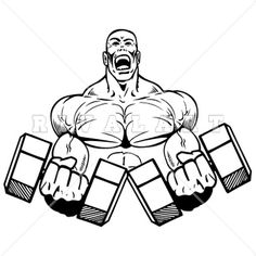 Sports Clipart Image of Weightlifter Graphic Color ...