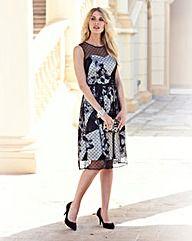 #JOANNAHOPE Mesh Overlay Print #Dress #OxendalesAW15 #Fashion #ootd #ootn