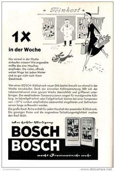 Original-Werbung/ Anzeige 1958 - BOSCH KÜHLSCHRÄNKE - ca. 150 x 220 mm