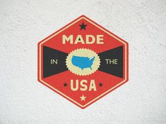 FFFFOUND! | Dribbble - MADE IN THE USA by Riley Cran