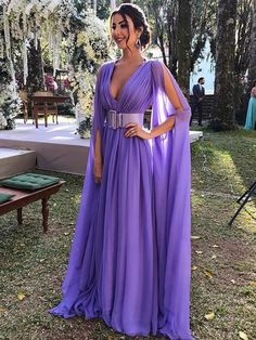 Jan 2019 - Sparkly Deep V-Neck Lilac Prom Gowns, Chiffon Long Prom Dress With Long Sleeves Belt,Chiffon Ruffles Floor Length Formal Dresses, Prom Dresses Lavender Prom Dresses, V Neck Prom Dresses, Cheap Prom Dresses, Prom Party Dresses, Bridesmaid Dresses, Prom Gowns, Purple Dress, Camo Dress, Shift Dresses