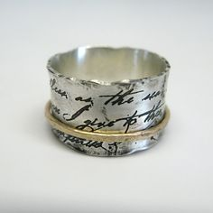 Juliet Spinner Ring in Sterling Silver and 10k Gold