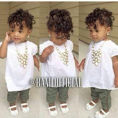 She soooo adorable ! Little Girl Fashion, Toddler Fashion, Kids Fashion, Babies Fashion, Kid Swag, Baby Swag, Beautiful Black Babies, Beautiful Children, My Baby Girl