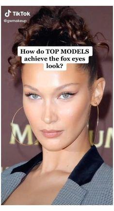 Fox Makeup, Hazel Eye Makeup, Makeup Eye Looks, Makeup For Brown Eyes, Skin Makeup, Makeup Looks Tutorial, Eyeliner Tutorial, Brown Eye Makeup Tutorial, Kendall Jenner Makeup Tutorial