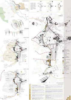bianchivenetoarchitetti · Riqualificazione urbanistica e paesaggistica fascia periurbana ad ovest delle mura. San Gimignano · Divisare