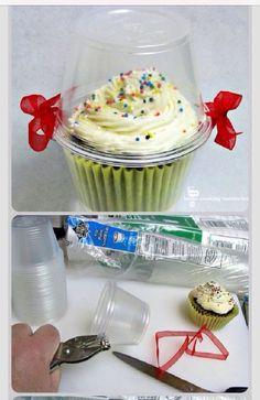 idea para regalar un cupcake