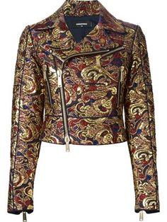 brocade biker jacket