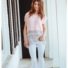 BELL Tunic Summer, block print, cotton, pink, blouses, travel, vacation | www.aliciabell.com