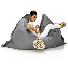 The Fatboy The Original Special Bean Bag is a classic addition to any lounging area. Seriously, everyone loves a bean bag - they are greatest places. Bean Bag Lounger, Bean Bag Chair, Relaxed Dog, Grey Furniture, Furniture Chairs, Colorful Chairs, Grey Chair, Sustainable Design, The Originals