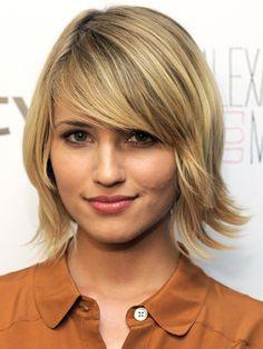 Short hair Diana agron