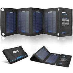 Anker 14W Solar Panel Foldable Dual-port Solar Charger with PowerIQ Technology for 5V USB-charged Devices Including GPS Units, iPhone 6 Plus 5S 5C 5 4S, iPad Air Mini, Samsung Galaxy S5 S4 Note Tab, Nexus, HTC, Motorola, Nokia, PS Vita, Gopro, more Phones and Tablets: Amazon.co.uk: Electronics