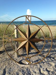 Metal Wall Compass Rose