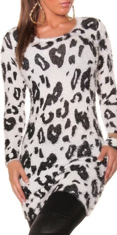 Dámský svetr - leopard Blouse, Long Sleeve, Sleeves, Women, Fashion, Tunic, Moda, Long Dress Patterns, Fashion Styles