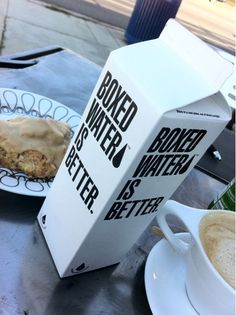 """On the quest to find these Boxed Water. Such a cool movement. """"Box Water Is Better""""."""
