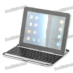 Bluetooth V3.0 USB Rechargeable Magnalium Cover 83-Key Keyboard for iPad 2 $36.00