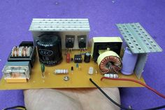 How to Build SMPS Transformer | Home Make 12V 10A Switching Power Supply Mechatronics Engineering, Electrical Engineering, Chemical Engineering, Power Electronics, Electronics Projects, Transformers, Battery Charger Circuit, Switched Mode Power Supply, Hifi Amplifier