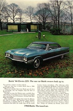 Items similar to 1966 Buick Electra 225 Car Ad Glass House New Canaan Connecticut Photo Print Advertisement Wall Art on Etsy Electra 225, Buick Electra, Retro Cars, Vintage Cars, Vintage Auto, Buick Cars, Sports Sedan, Lifted Ford Trucks, Abandoned Cars