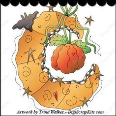 Harvest Moon 1a Clip Art Single