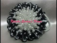 #84 - Flor de Tecido Cetim- Petit Poá ! - DIY - Satim Flower / kanzashi /サテン花 / 簪 - YouTube