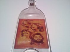 The Beatles  wine melted bottle made into by Collectivekayos, $15.00