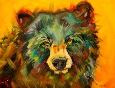 ARTOUTWEST BEAR ANIMAL WILDLIFE ART OIL PAINTING BY DIANE WHITEHEAD, painting by artist Diane Whitehead