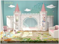 A set of furniture and decor for the decoration of a children's room (for toddlers).  Found in TSR Category 'Sims 4 Kids Bedroom Sets'