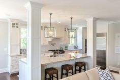 kitchen islands with support posts - Google Search
