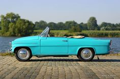 Škoda Felicia, year Colour radiant blue/green with a matching two tone interior. Inspired by the American cars of the Rock and roll period. This Felicia shows all original … Felicia, Vintage Cars, Classic Cars, History, Antique Cars, Classic Trucks