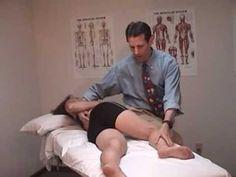 Right on left sacral torsion - Muscle Energy Technique (M1)